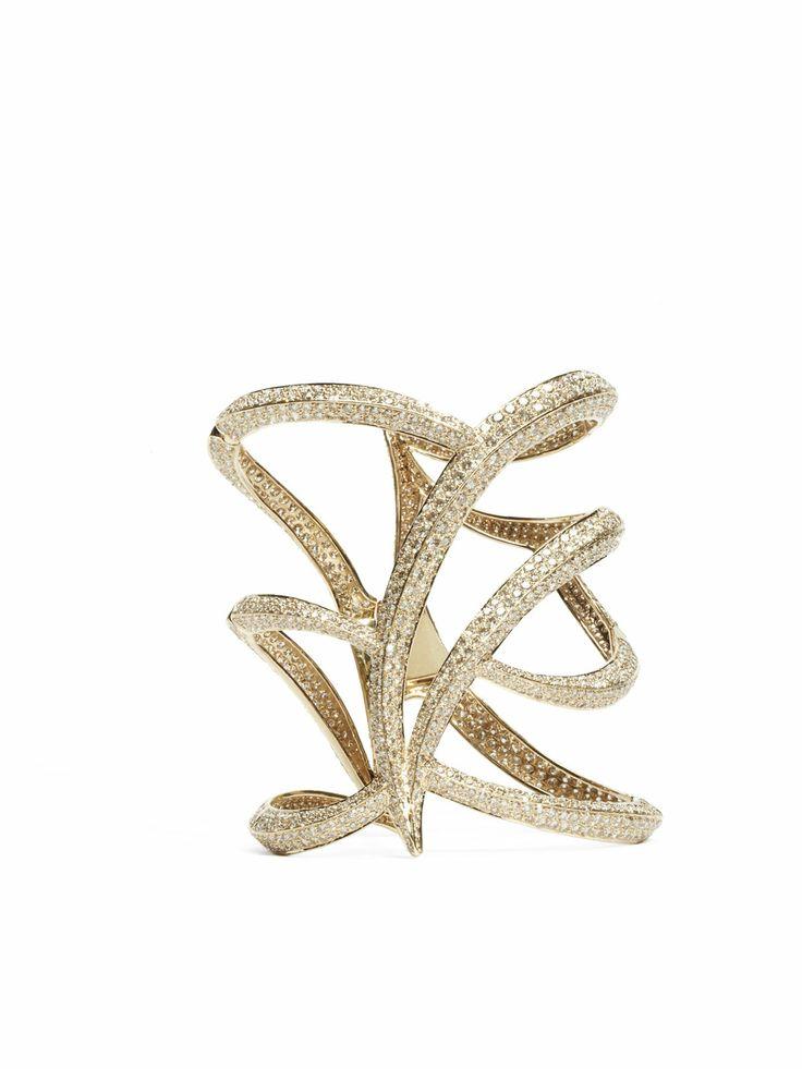 Maiyet Diamond Owl Cuff Bracelet