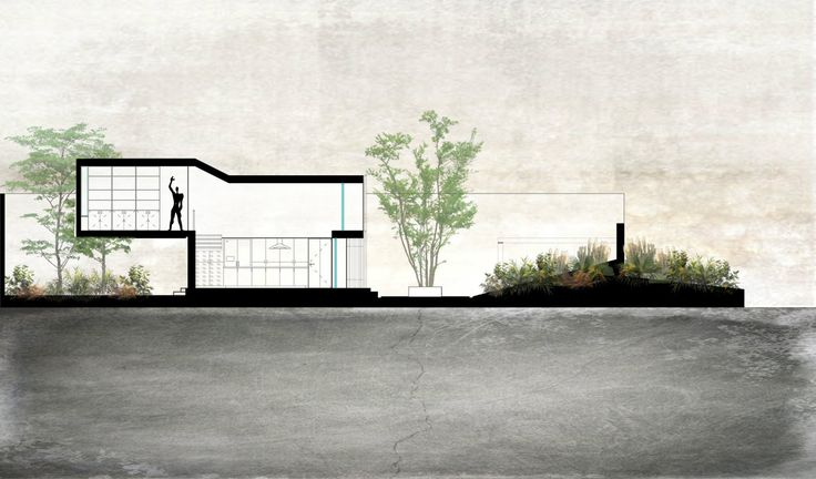 Section (Studio House on Chapálico Sea - ARS° Atelier de Arquitecturas)