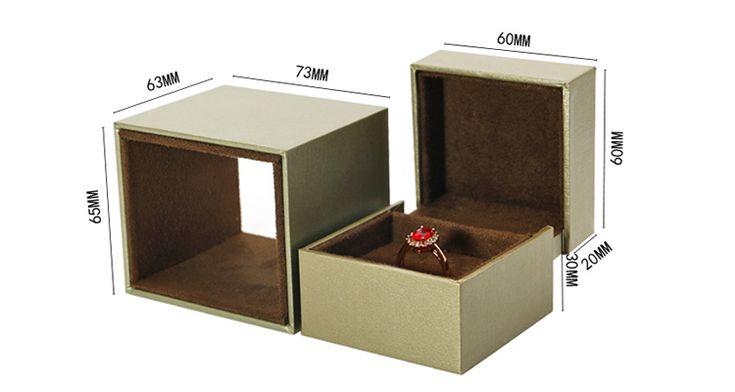 Custom logo small magnet walnut wooden engagement jewelry ...