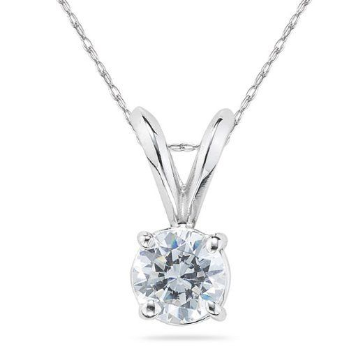 1/10 Carat Round Diamond Solitaire Pendant in Platinum Szul. $335.00. Complimentary Packaging. 30 Day Money Back Guarantee. 60 Day Complimentary Repair Service