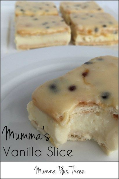 Mumma's Vanilla Slice - Mumma Be Organised