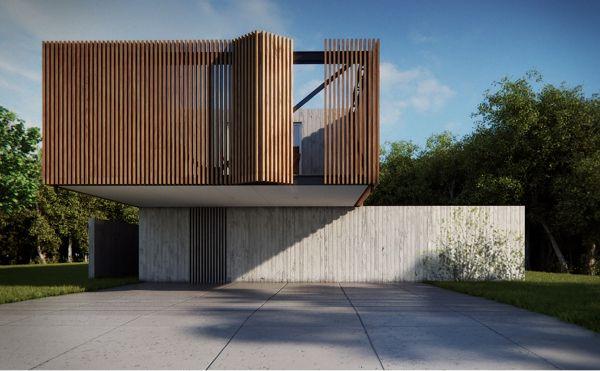 Foldable facade   XAN | CASA EN XANGRILÁ by MAAM ARQUITECTOS , via Behance