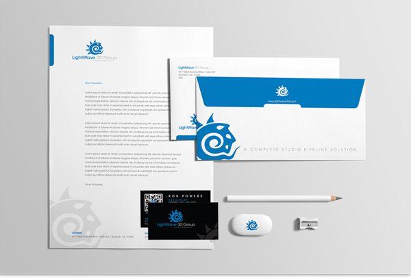 LightWave 3D Group - Stationary - Kop Surat Desain Elegan