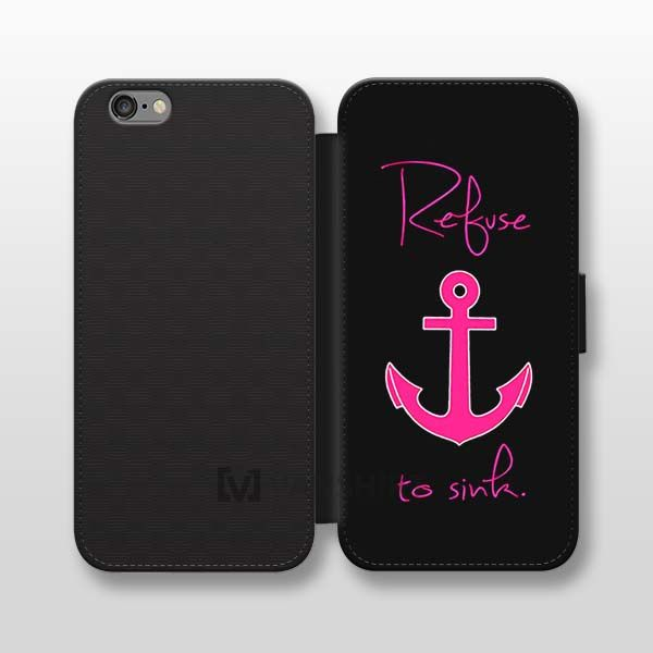 Anchor phone cases iphone 6, refuse to sink iphone wallet case