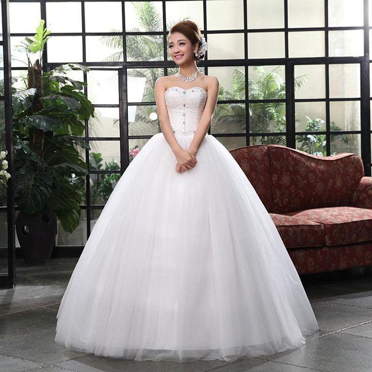 Mais Novo Feminino Slim Doce Princesa tomara que caia vestidos de casamento estilo coreano WVA038   Roupas, calçados e acessórios, Casamentos e ocasiões formais, Vestidos de noiva   eBay!