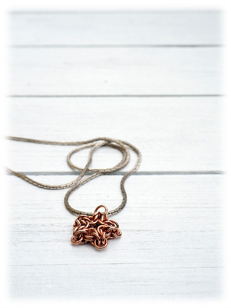 Jewelry | Frenkenstein – Fire and Stone Chainmaille star pendant