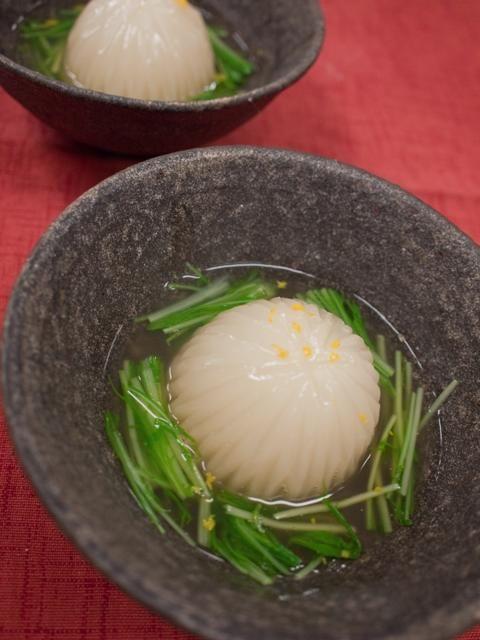 zen's fotolife - [上田][長野][和食][膳][Japanesefood]菊蕪の鶏そぼろあん