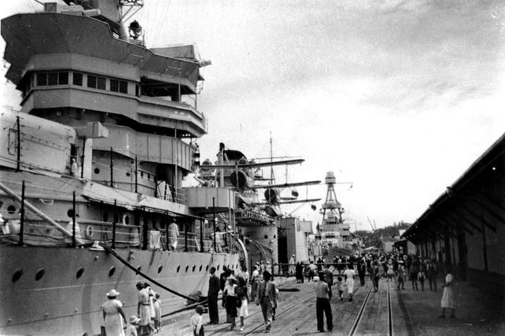 USS CHICAGO [II], USS PORTLAND, Brisbane Mar. 25, 1941