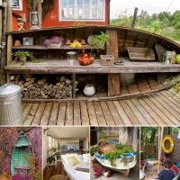 Old boats can be repurposed and used to decorate your home in a number of many ways. They are ideal for a nautical themed decor. View these ideas and get r
