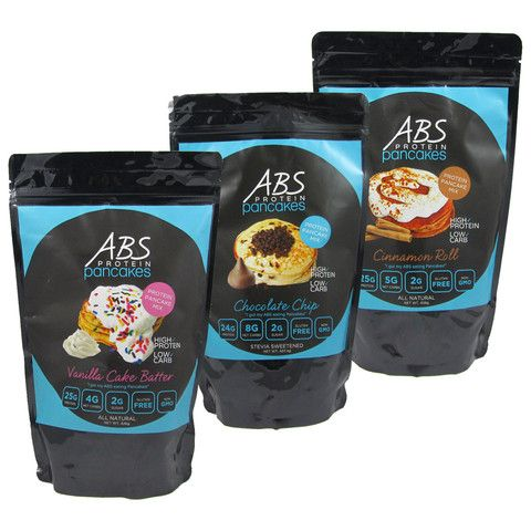 3 Pack Trio ABS Pancakes & Waffle Mix Super low net carbs, high protein!