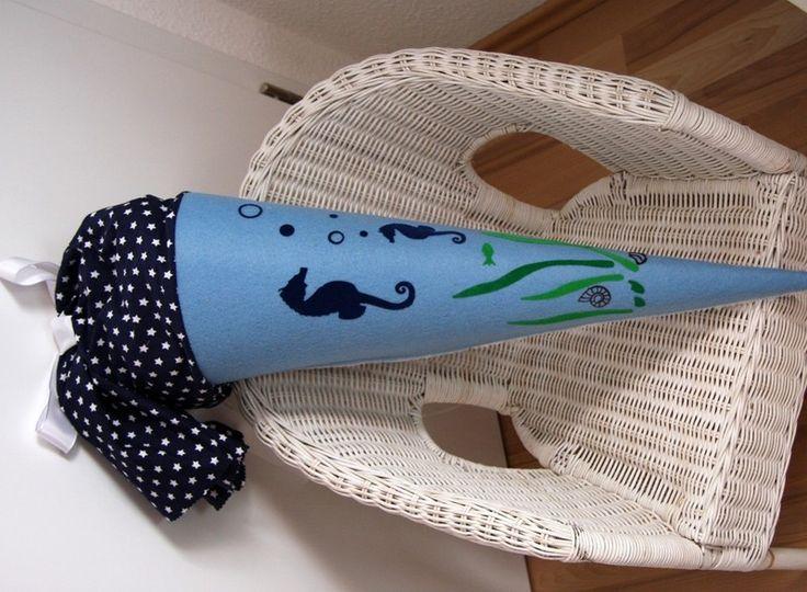 Schultüten - Schultüte Seepferdchen,Unterwasserwelt,Meer - ein Designerstück von Kreativstudio-Nagel bei DaWanda