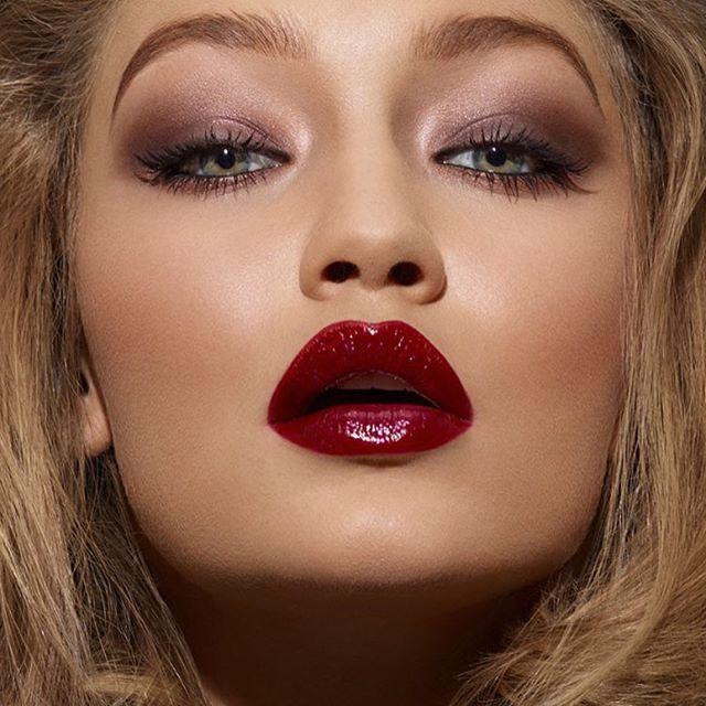 Beautiful #GigiHadid / Makeup by me / hair @lorenzomartinjr / photo: @darrentieste for #beautybookforbraincancer