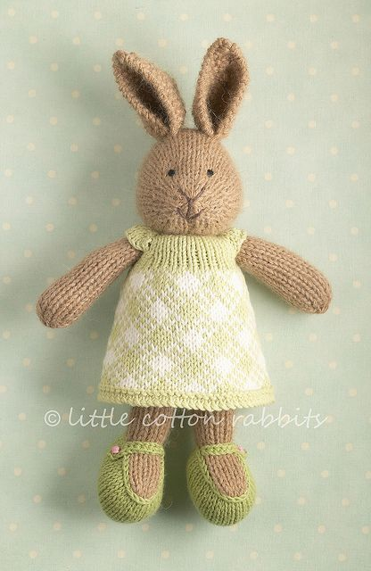 Knitting Patterns For Pet Rabbits : 39 best images about Little Cotton Rabbits on Pinterest