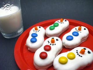 Nutter butter snowmen! Simple and super cute!