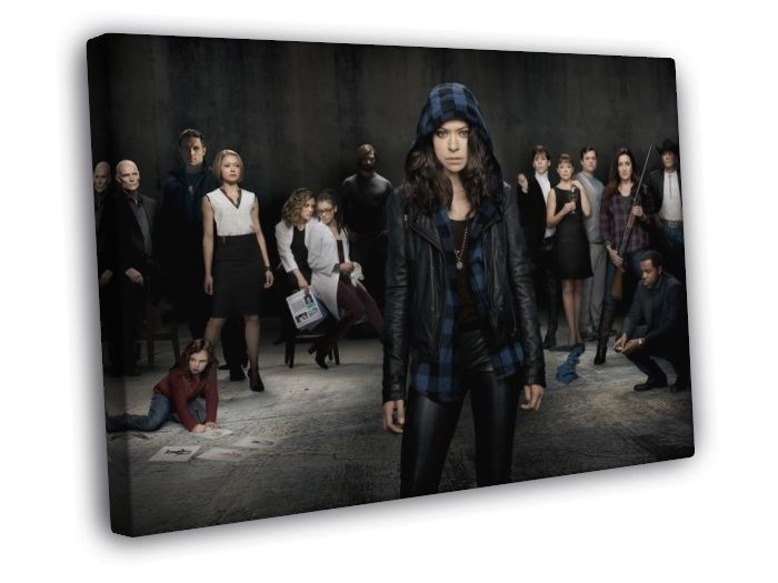 Orphan Black Characters Cast Tv Series WALL FRAMED CANVAS PRINT #PopArt
