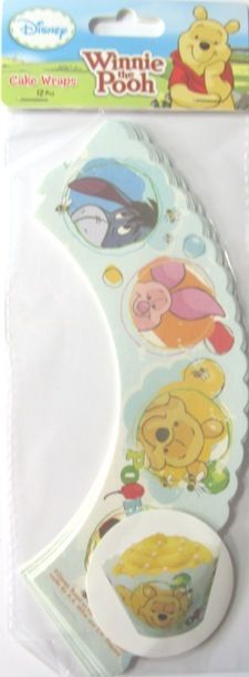 Winnie The Pooh Party Cake Decorations Piglet Eeyore Tigger Cupcake Wrapper