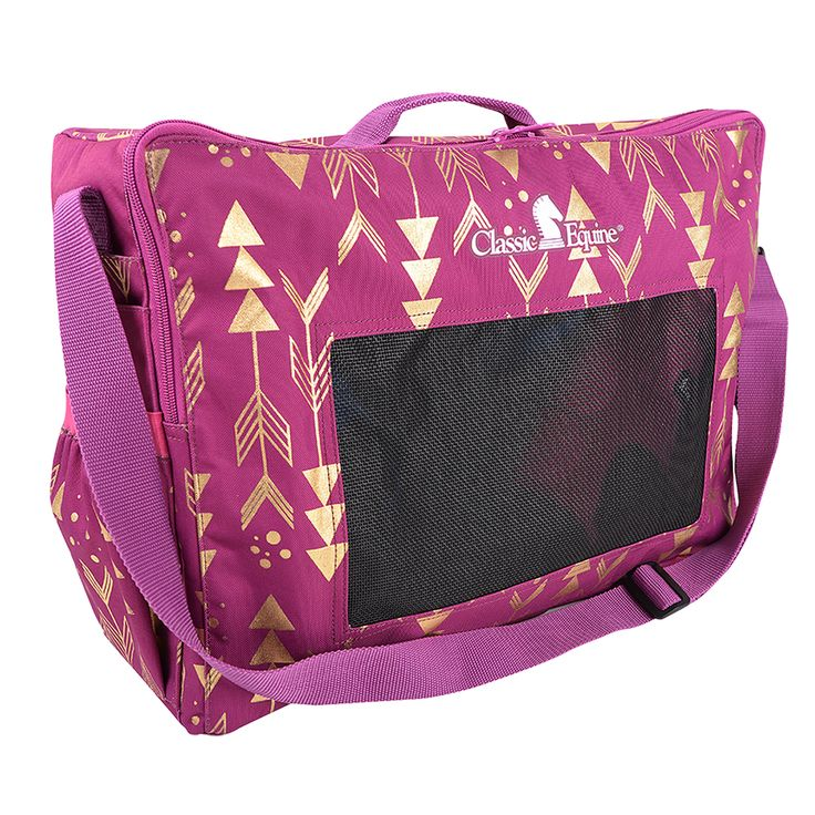 Classic Equine Boot or Accessory Tote in Metallic Arrows