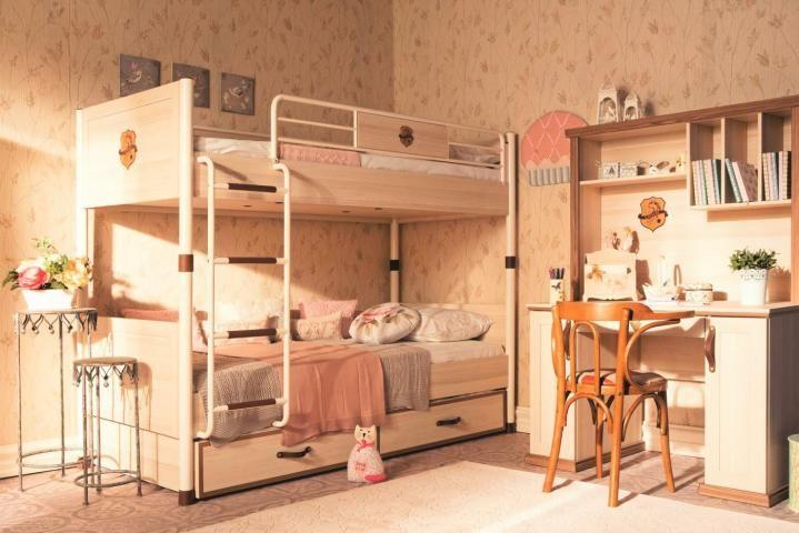 Amor paardenkamer kinder slaapkamer meisjesbed stapelbed