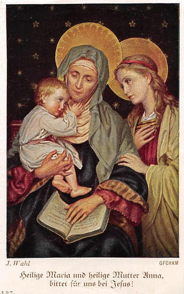 "OLD nice german rare Holy cards from 1930"" H3098"" maria jesus anna"