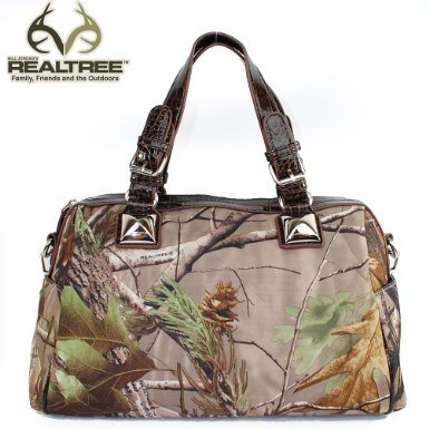 Amazon.com: REALTREE Western Camouflage Buckle Handle Detailed Tote Satchel Handbag Purse with Chain Strap in Camo and Coffee: Clothing $42.99