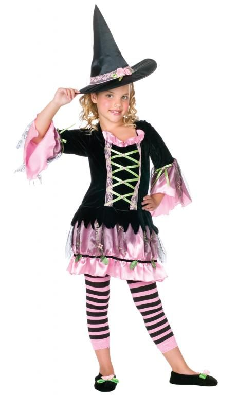 22abad3f47 Blossom Witch Child Costume Blossom Witch Child Costume Can She Turn You  Into A Frog! Costume includes  Black velvet dress with pink satin and black  tulle ...
