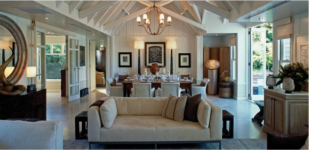 At Huka Lodge, four superbly decorated spacious en suite guest rooms are anchored by a central living room, dining area, kitchen and den. The colour palette is deliberately muted with elegant use of soft cream and caramel hues for the walls and bleached oak wooden parquet floors throughout. This all contributes to an ambience of calm restful relaxation within the Cottage.