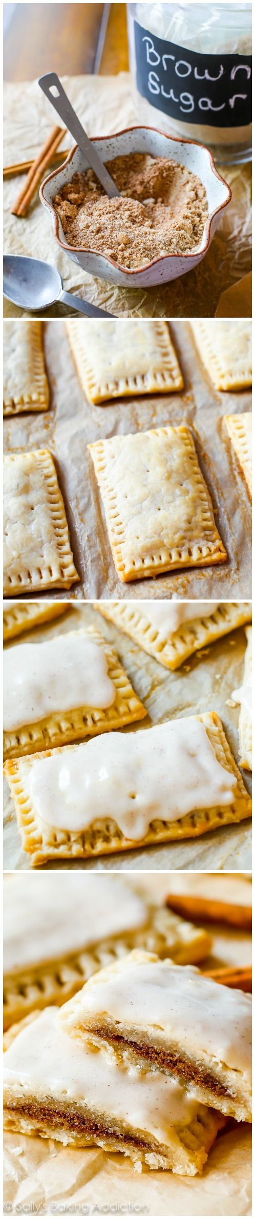 How to Make Brown Sugar Cinnamon Pop Tarts from scratch - recipe by sallysbakingaddiction.com