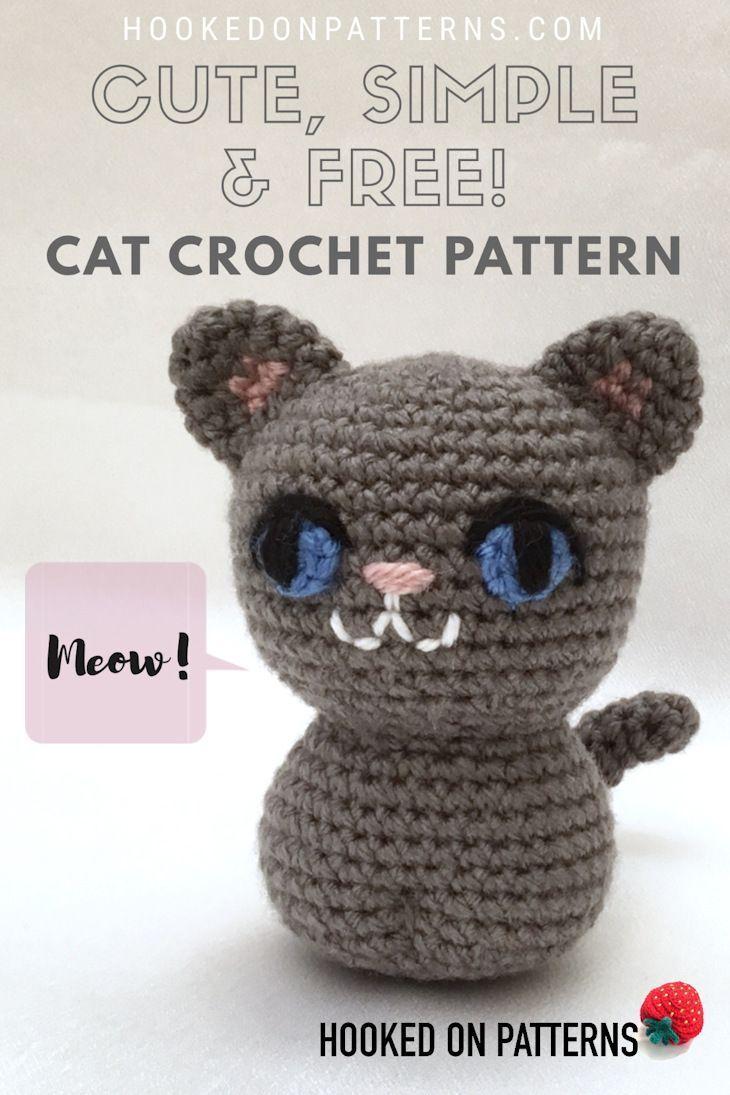 Simple Free Crochet Cat Pattern Crochet Amigurumi Pinterest
