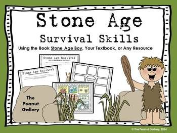Stone Age note taking and poster activity using your textbook, your own resource, or the book Stone Age Boy by Satoshi Kitamura ($)
