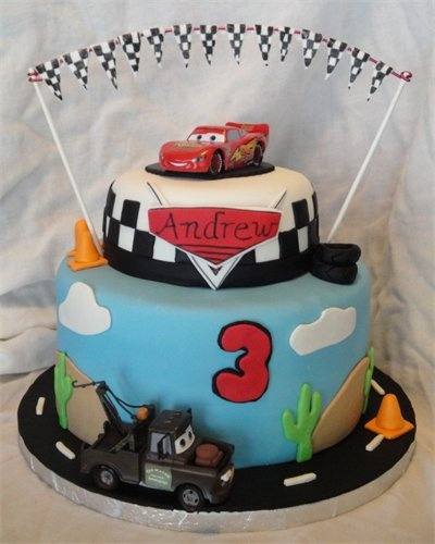 Disney Pixar Cars Cake Design : 12 best images about Luca s 4th Birthday Party on ...