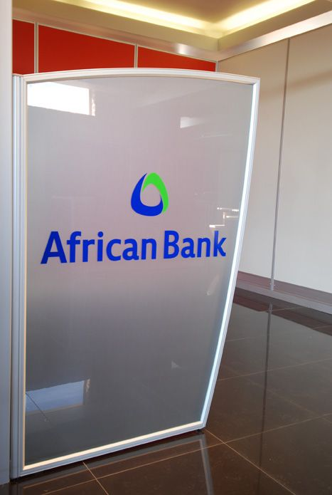African Bank - retail branch interior design, banking office space.