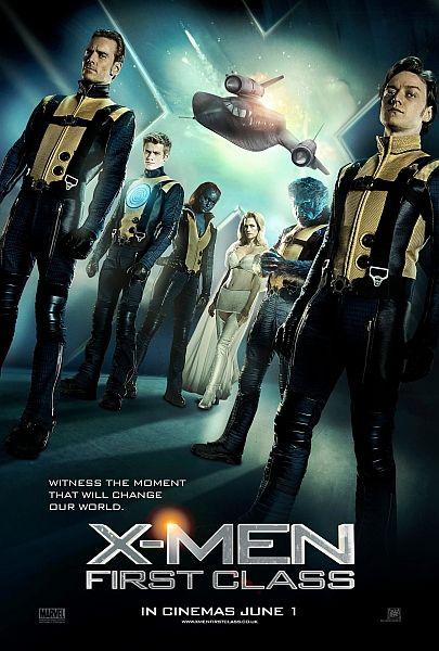 X-men: First class Erik, Charles, Logan, Emma Frost, Mistikse tướng quân, tàu ngầm, chiến tranh hạt nhân, tháp vệ tinh, cánh chuồn chuồn, đồng phục, tên lửa, bãi biển, Celebro,