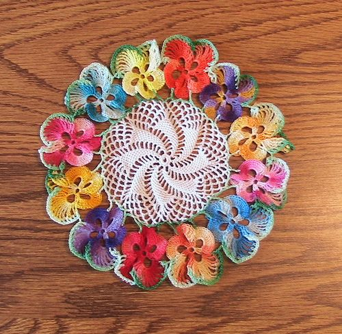 Free Crochet Patterns to Print   Pansy doily, crochet ...