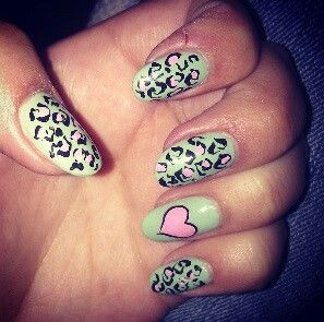 Animal print on my nails