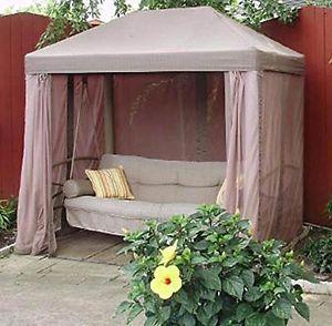 Garden Winds Gazebo Style Swing Replacement Canopy