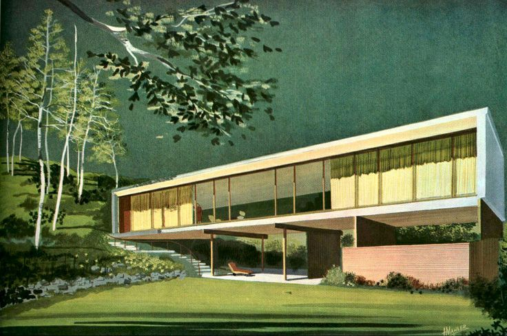 1949, Lind house, Southern California, mid-century modern