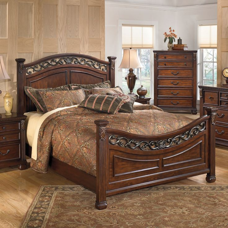 Signature Design by Ashley Leahlyn Warm Brown Bed | Overstock.com Shopping - The Best Deals on Beds