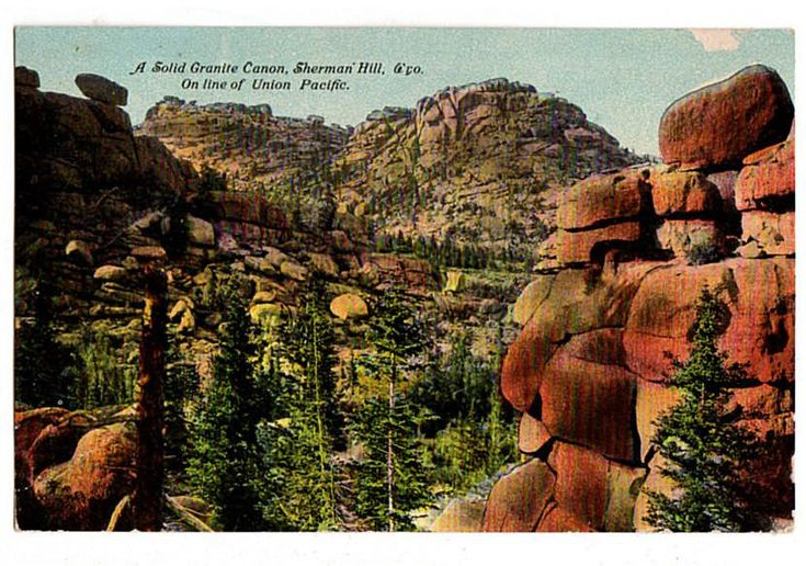 Vintage 1910's Granite Canyon Sherman Hill Wyoming Union Pacific Railroad Postcard A 1211