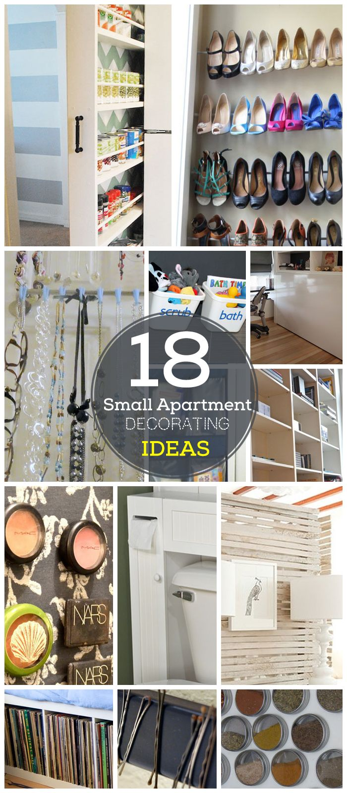 18 DIY Small Apartment Decorating Ideas on a Budget | Click for Tutorials |  DIY Organization Ideas for Small Spaces