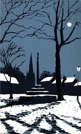 Market Cross in Winter, Masham by Ian Scott Massie