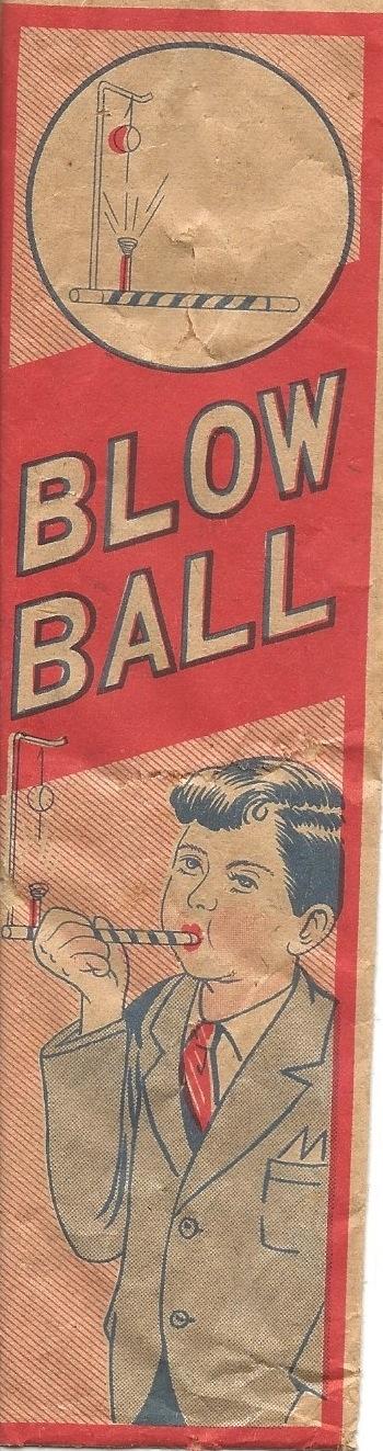 """Blow Ball"" 1930s children's game."