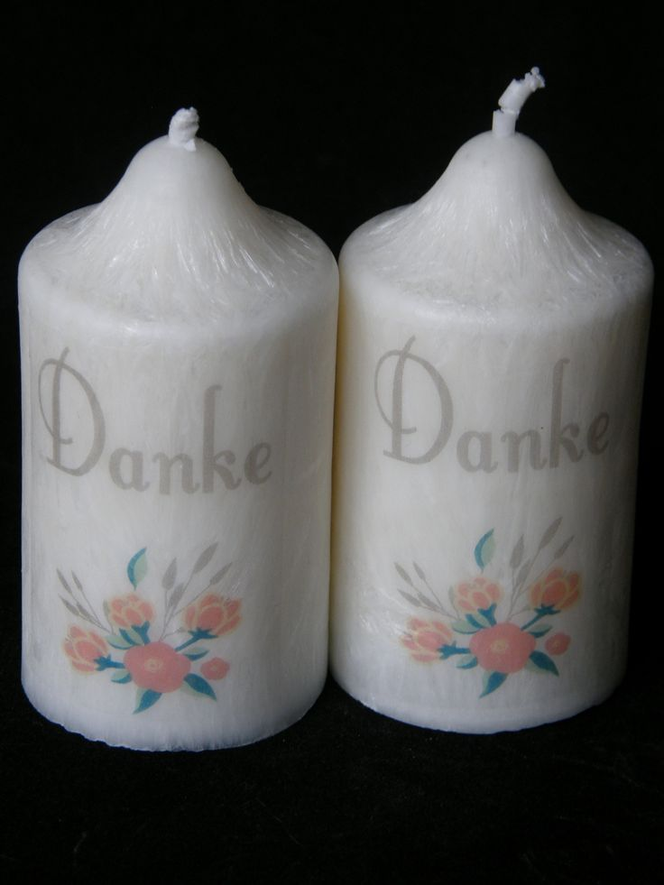 Thank you Wedding Baptism Favour Candle