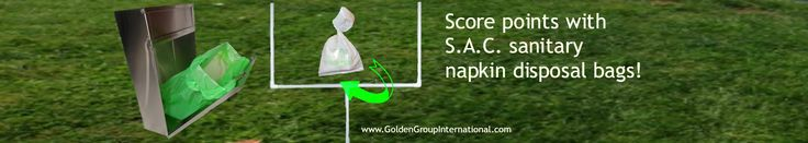 Score points with your patrons! Offer S.A.C. products for feminine hygiene disposal. www.GoldenGroupInternational.com