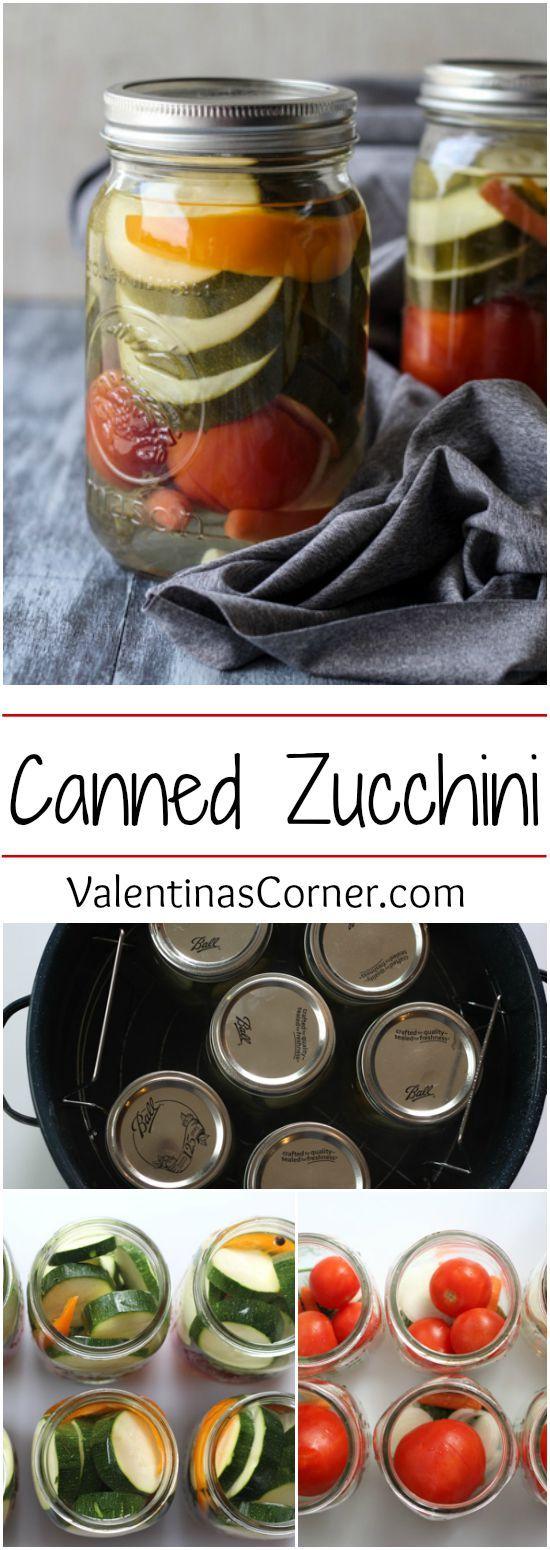 Canned Zucchini ValentinasCorner.com