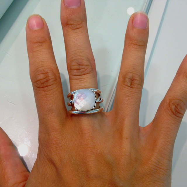c9e693ab4 Mother of pearl ring at pandora and 2 smooth bands | My Style | Jewelry, Pandora  rings, Mother pearl