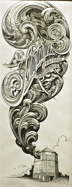 The Arcade Fire Drawing by Shrieking Tree, via Flickr