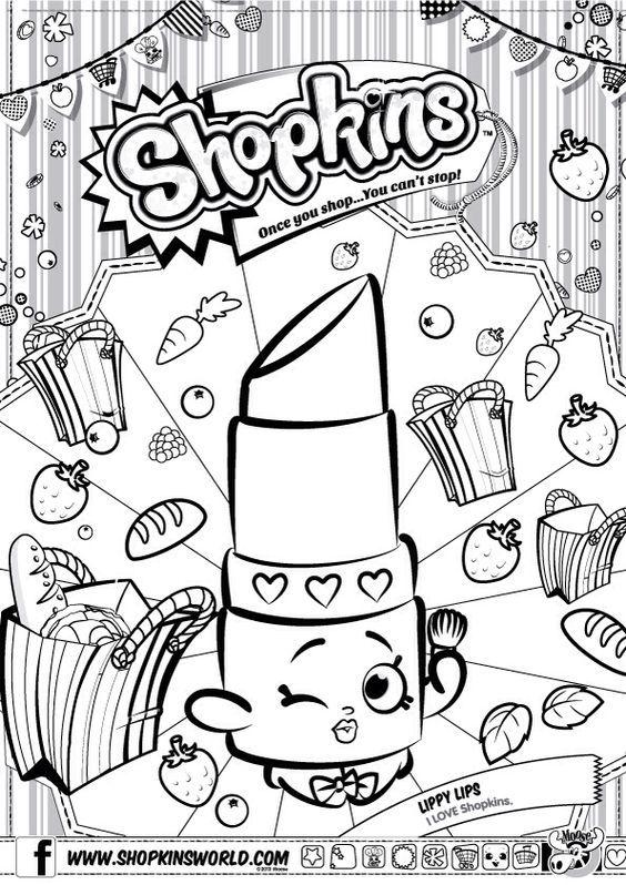 Shopkins Coloring Pages Season 1 Lippy Lip