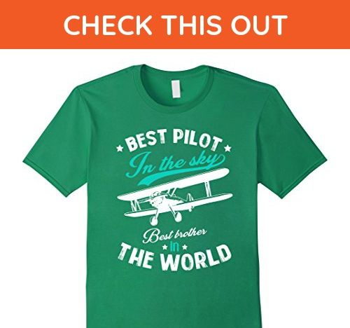 Mens Pilot In The Sky Brother Boy Airplane Pilot Cool T Shirt 2XL Kelly Green - Relatives and family shirts (*Amazon Partner-Link)