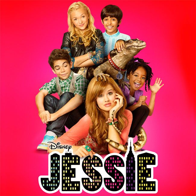 Jessie,Luke,Zurie,Emma,Ravi, and Mr.Kipling! The Jessie cast! <3 this T.V show! Debby Ryan, Cameron Boyce, Skai Jackson, Payton List and I forget Ravis real name
