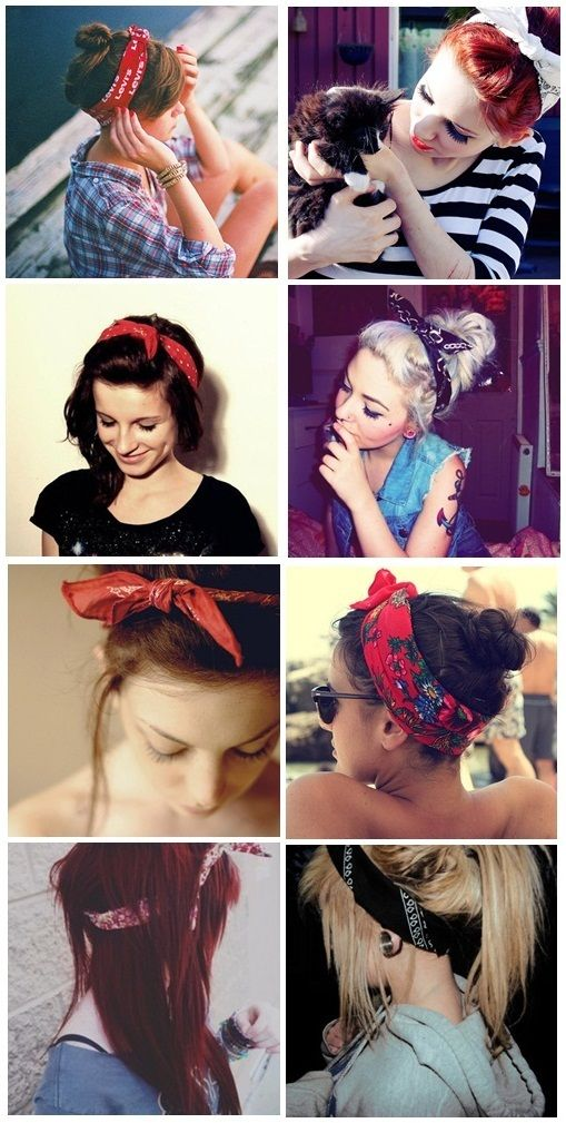Bandannas, great alternative to using hair clips or hairbands!  Looks super cute…